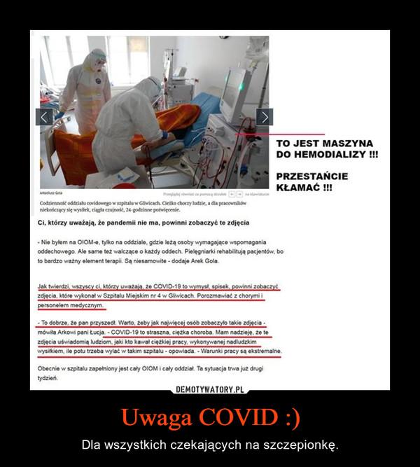 Uwaga COVID :)